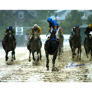 Victor Espinoza Signed 2015 Preakness Looking Back 11x14 Photo