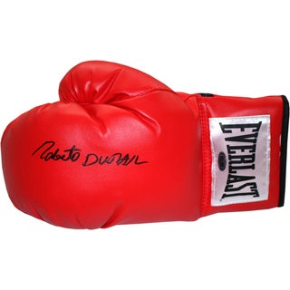 Roberto Duran Signed Boxing Glove (White Everlast Patch)