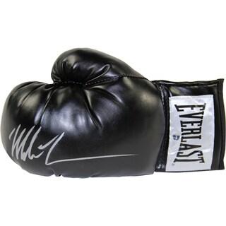 Mike Tyson Signed Black Everlast Boxing Glove