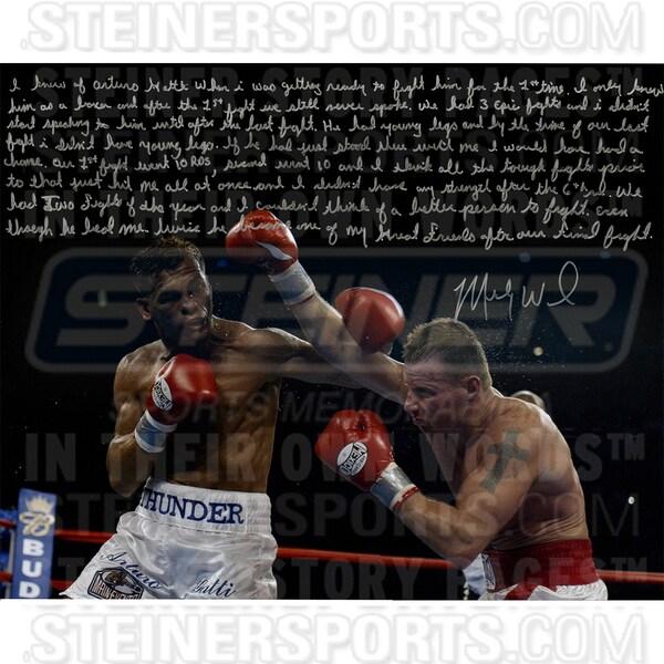 Mickey Ward Signed Against Arturo Gatti 16x20 Story Photo