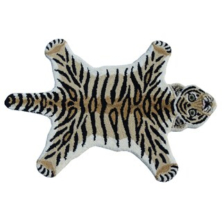 Tiger Skin Shape Wool Rug (2' x 3')