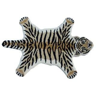 Tiger Skin Shape Wool Rug