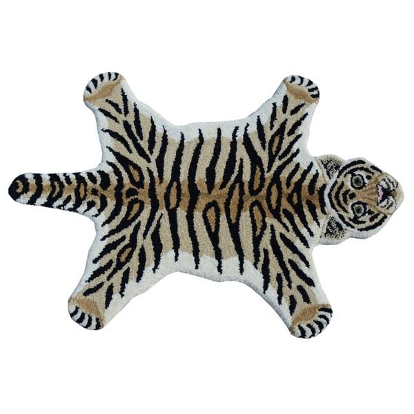 Shop Tiger Skin Shape Wool Rug