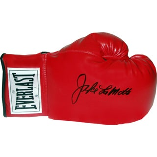 Jake LaMotta Signed Everlast Boxing Glove (Single)