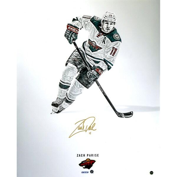 Zach Parise Signed Steiner Platinum Collection 16x20 Photo