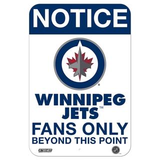 Shop Winnipeg Jets Fans Only 8x12 Aluminum Sign Free