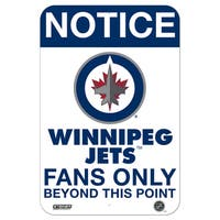 Winnipeg Jets Fans Only 8x12 Aluminum Sign