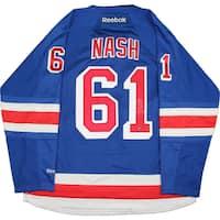Rick Nash Signed New York Rangers Reebok Blue Premier Jersey