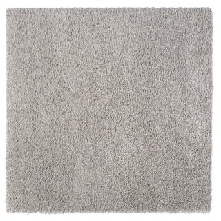 Somette Loretto Collection Slate Solid Shag Area Rug (6.7' x 6.7')