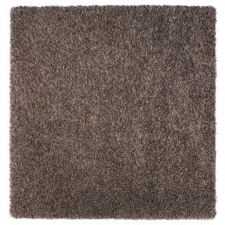 Somette Duckwater Collection Grey Solid Shag Area Rug (6.7' x 6.7')