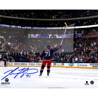 Nick Foligno Signed Celebration 8x10 Photo