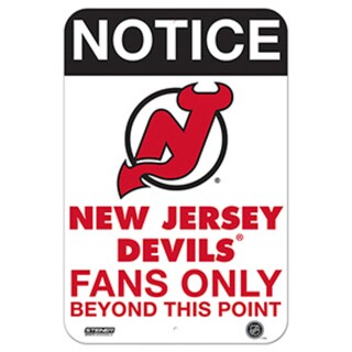 New Jersey Devils Fans Only 8x12 Aluminum Sign