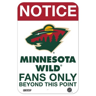 Minnesota Wild Fans Only 8x12 Aluminum Sign