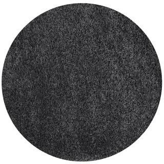 Somette Loretto Collection Graphite Solid Shag Area Rug (5.3' x 5.3')
