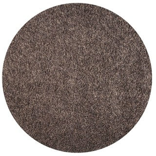 Somette Duckwater Collection Grey Solid Shag Area Rug (5.3' x 5.3')