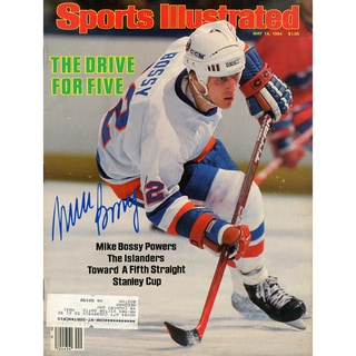 Mike Bossy Signed 5/14/1984 Sports Illustrated