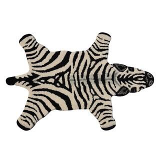 Zebra Skin Shape Wool Rug - 2' x 3'