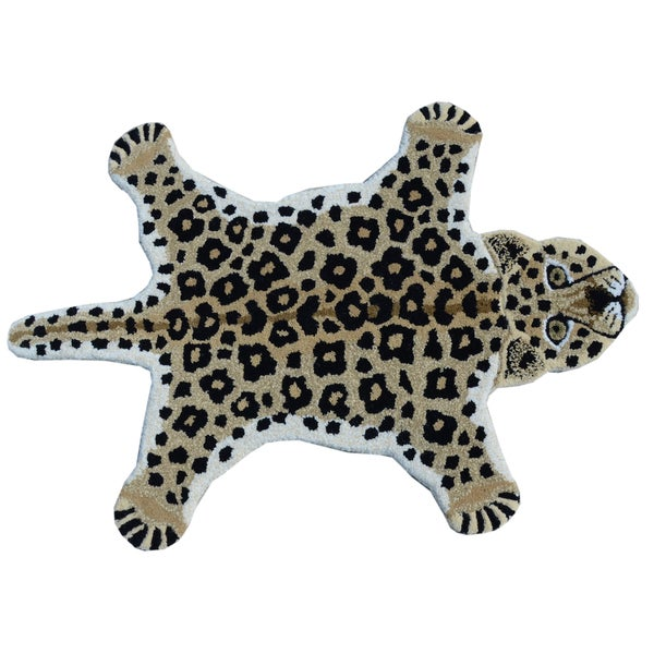 Shop Leopard Skin Shape Wool Rug 2 X 3 Free Shipping