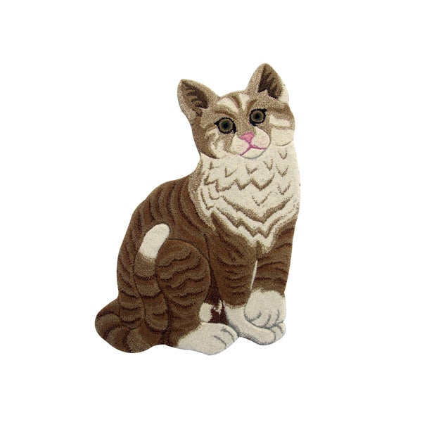 Shop Cute Cat Wool Rug 2 X 3 Free Shipping Today