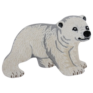 Baby Polar Bear Wool Rug (2' x 3')