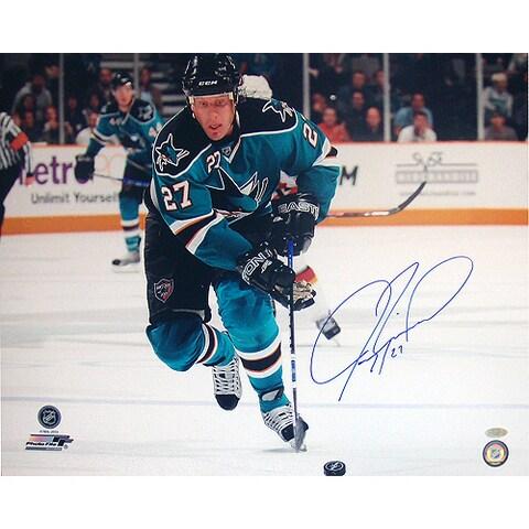 Jeremy Roenick San Jose Sharks Skating Up Ice Horizontal 16x20 Photo