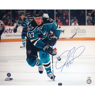 Jeremy Roenick San Jose Sharks Skating Up Ice Horizontal 16x20 Photo