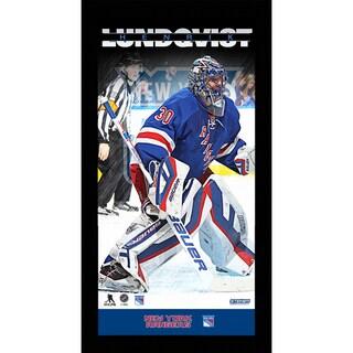 Henrik Lundqvist New York Rangers Player Profile 10x20 Framed Photo