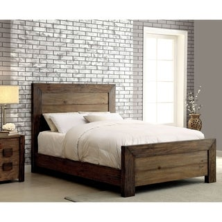 Furniture of America Kailee Rustic Natural Tone Platform Bed