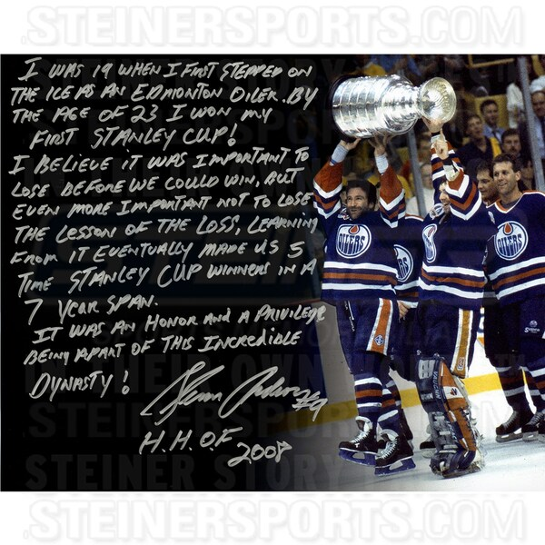 Glenn Anderson Signed 16x20 Story Photo