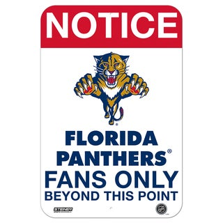 Florida Panthers Fans Only 8x12 Aluminum Sign