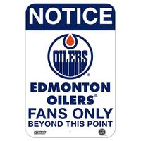 Edmonton Oilers Fans Only 8x12 Aluminum Sign