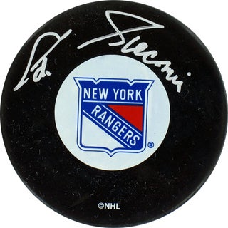 Eddie Giacomin Signed New York Rangers Puck