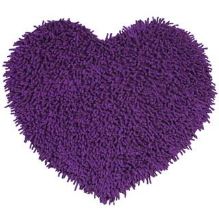 Purple Shagadelic Chenille Twist Shag Heart (1'8 x 2')