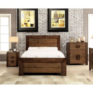 Furniture Of America Kailee Rustic 3 Piece Natural Tone Bedroom Set