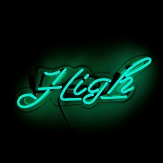 Oliver Gal 'High' Neon Sign