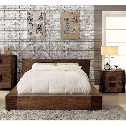 Furniture of America Shaylen I Rustic 2-piece Bed and Nightstand Set