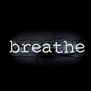Oliver Gal 'Breathe' Neon Sign - 22 x 5