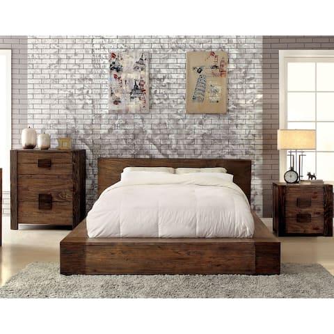 Carbon Loft Olive 3-piece Natural Tone Low Profile Bedroom Set