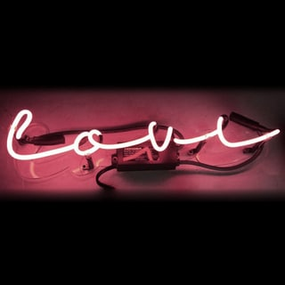 Oliver Gal 'Love' Neon Sign