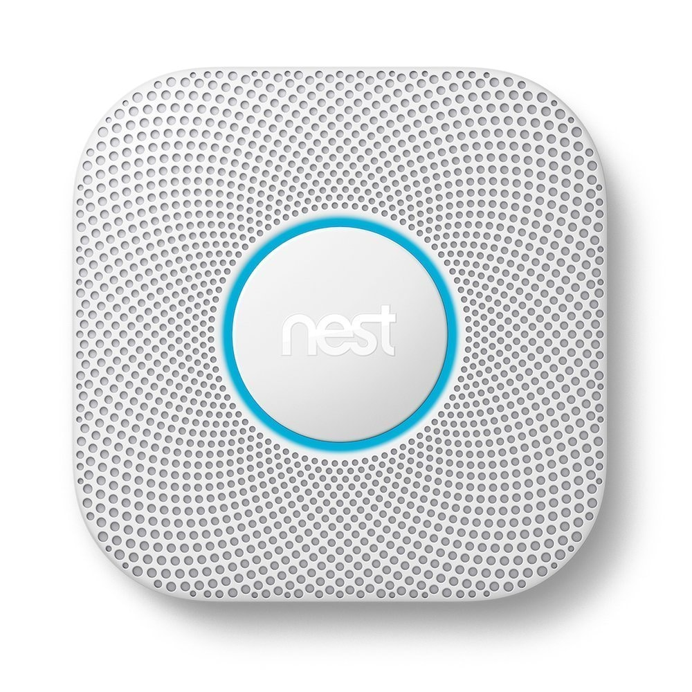 Nest Protect (Wired) 2nd Generation, White (Nest Protect Wired Smoke and Carbon Monoxide Alarm)