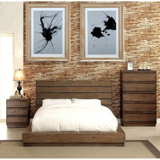 Carbon Loft Jessie Rustic 3-piece Natural Tone Low Profile Bedroom Set