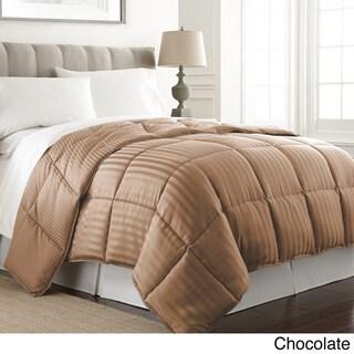 Amraupur Overseas Dobby Stripe Reversible Down Alternative Comforter
