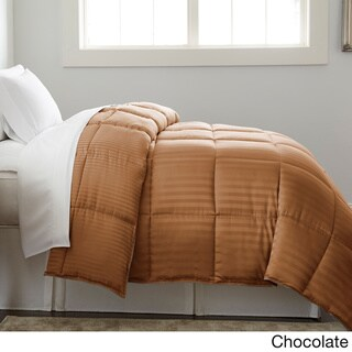 Amraupur Overseas Dobby Stripe Reversible Down Alternative Comforter