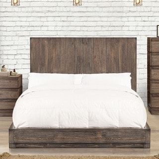 Furniture of America Remings Industrial Natural Tone Low Profile Bed