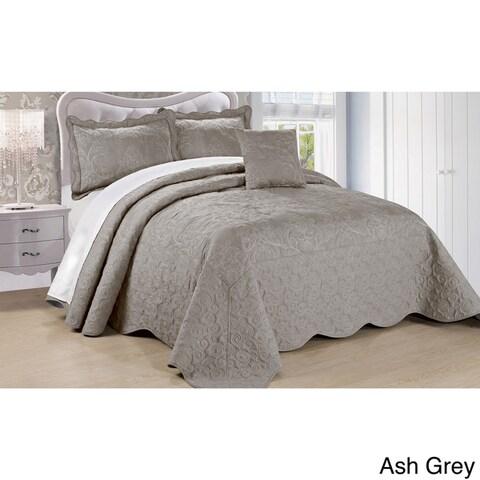 Serenta Damask 4-piece Bedspread Set
