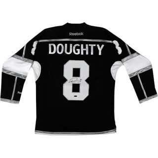 Drew Doughty Signed Los Angeles Kings Black Jersey w/ Stanley Cup Patch