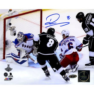 Drew Doughty Signed Los Angeles Kings 2014 Stanley Cup Scoring Goal 8x10 Photo