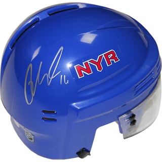 Derick Brassard Signed New York Rangers Blue Mini Helmet