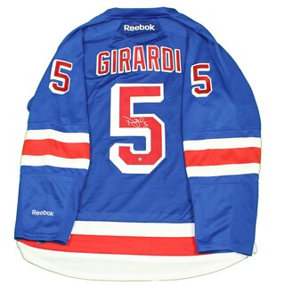 "Dan Girardi Signed New York Rangers Blue Premier Jersey w/ Alternate Captain ""A"""