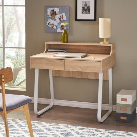 Seanan Wood Computer Desk with Drawers by Christopher Knight Home